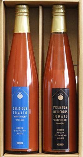 ギフト プレミアム&丸しぼりセット デリシャスファーム 無添加・無塩 高糖度 厳選した幻の品種・デリシャストマトを丸搾りしたトマトジュースの2種セット トマトの味や香りをいかした逸品
