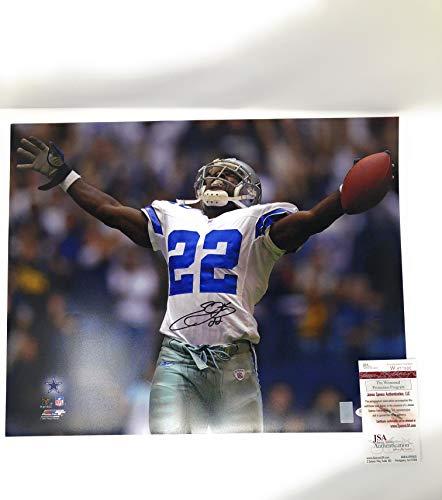 Emmitt Smith Dallas Cowboys - Emmitt Smith Dallas Cowboys Signed Autograph 16x20 Photo Photograph JSA Certified