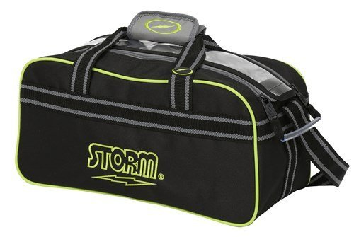 Storm 2 Ball Deluxe Tote, Black/Gray/Lime