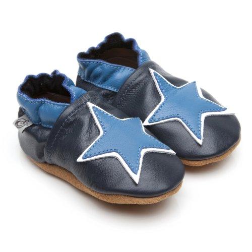 Morbida Cuoio Bambino Calzature Blu stella 12-18 mese