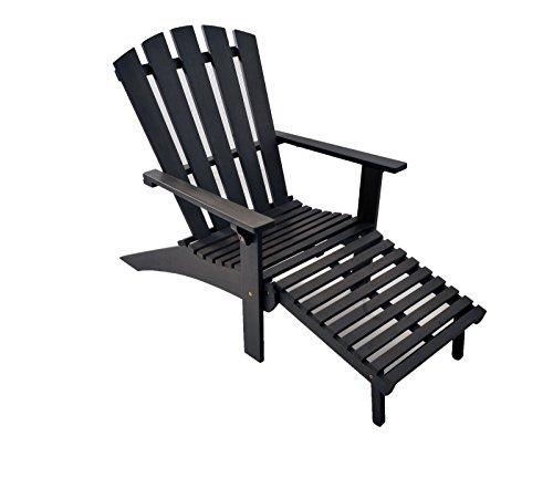 SAM® Sparset: 2 x Hart-Holz Deckchair Liegestuhl Sonnenliege Holzliege America grau, 140 cm, Liegesessel für den Sommer, geschliffene Oberfläche, 2. Wahl