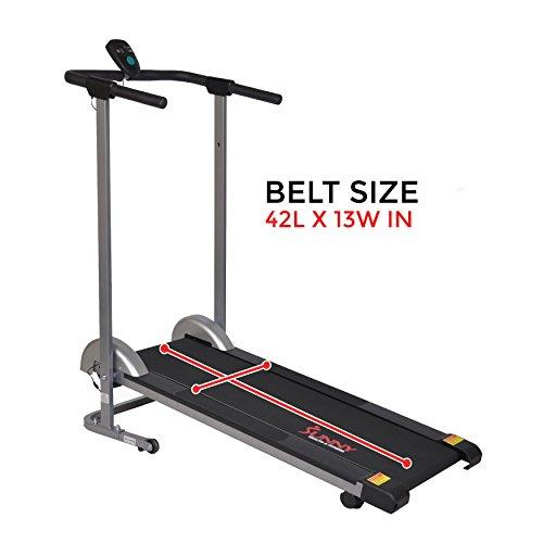 Sunny Health & Fitness SF-T1407M Manual Walking Treadmill, Gray by Sunny Health & Fitness (Image #14)