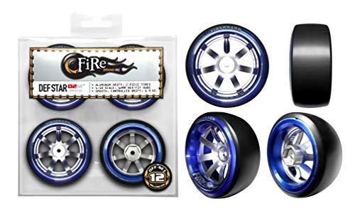 FireBrand RC • DEF STAR-D2M Aluminum Drift wheel/tire Set