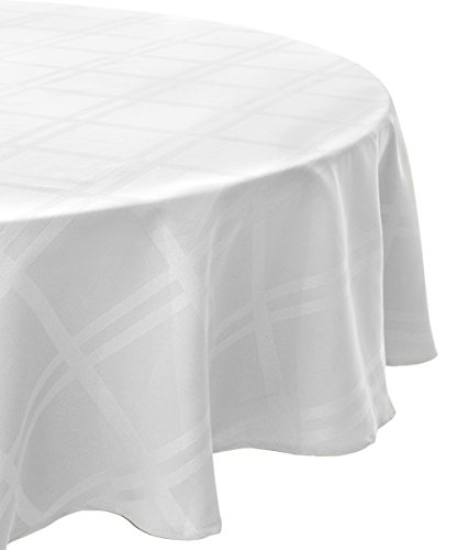 "Cuisinart Spill-Proof Round Formal Tablecloth, 70"", White"