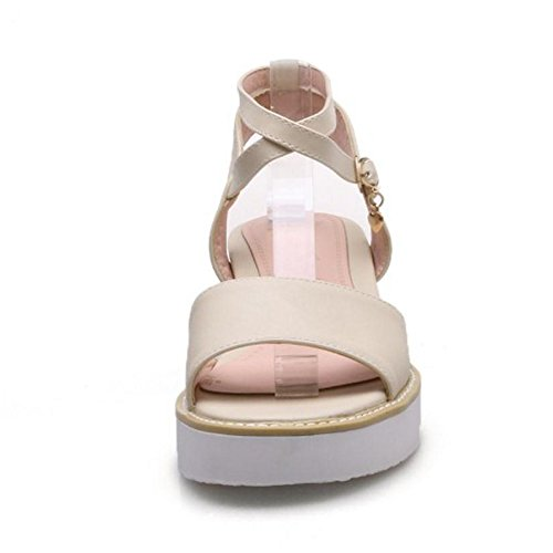 Sandals Fashion Open Beige Women Back TAOFFEN 6O7HqH