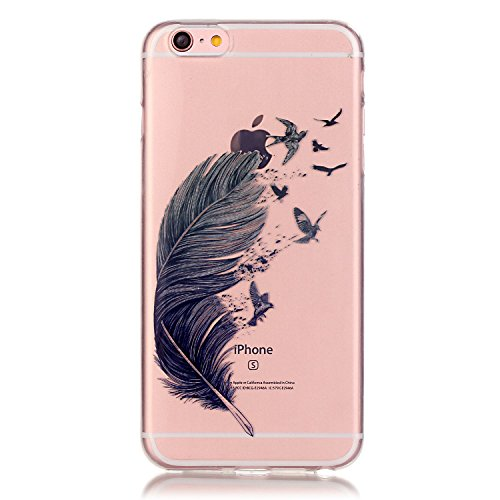 iPhone 7 Plus Case, Firefish iPhone 7 Plus Cases Clear TPU Durable Bendable Shock Absorption Bumper Anti-Slip Scratch Resistant Case for Apple iPhone 7 Plus - Feather