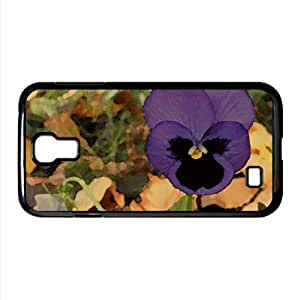 lintao diy Lone Pansy Autumn Watercolor style Cover Samsung Galaxy S4 I9500 Case (Flowers Watercolor style Cover Samsung Galaxy S4 I9500 Case)