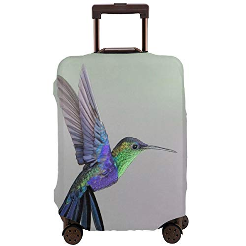 Travel Luggage Suitcase Cover Baggage Cover - Purplre Hummingbird Art, Elastic Dustproof Luggage Case Zipper Protective Cover, Fits 18/20/22/24/26/28 Inch Luggage