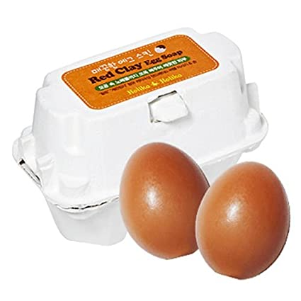 Holika Holika huevo jabón serie – rojo arcilla huevo jabón 50 g, ...