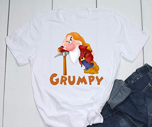 Snow White 7 Seven Dwarfs GRUMPY Disney Epcot Graphic Ladies/Unisex/Youth/Toddler Sizes ()