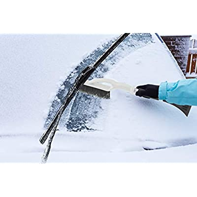 Superio 414 Car Snow Brush with Ice Scraper, One Size, Blue: Garden & Outdoor