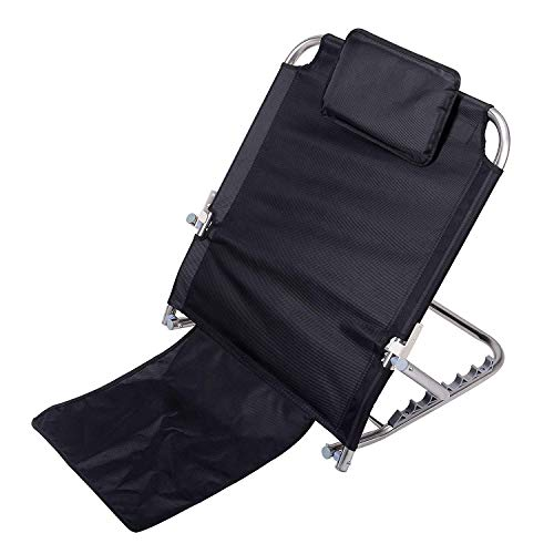 Portable Adjustable Sit-up Backrest Reclining Support Bed Wedge with Removable Headrest