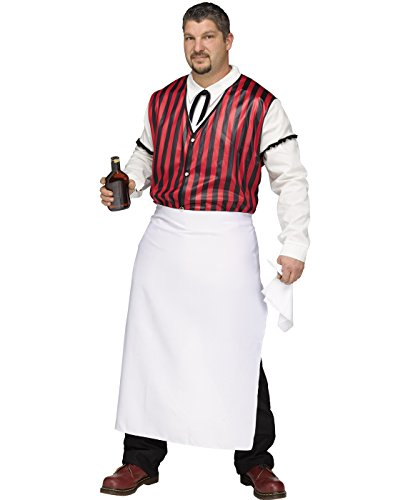 Fun World Men's Wild West Saloon Keeper Costume, Multi, Plus -