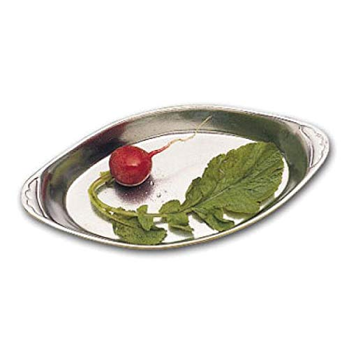Bon Chef 5001PLATINUMGRA Au Gratin Dish, 12 oz, 4-3/4 inches ; x 9-3/4 inches, oval, aluminum with ceramic-look coating(Priced Per: Each) by Bon Chef