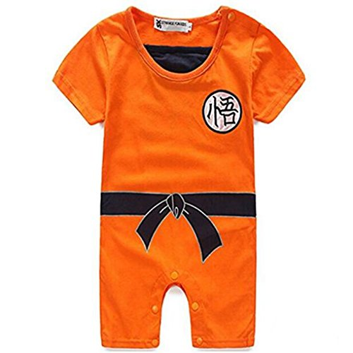 Poetic Walk Baby Toddler Kids Dragon Ball Goku Onesie Jumpsuit Romper