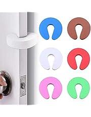 LxwSin Deurstopper, schuimrubber, klembescherming voor deuren, 6 stuks, cartoonschuim, deurstopper, anti-botsing, deurstopper, baby klembescherming, vingerbescherming, U-vormige deurbescherming voor thuis, kantoor, deur, kinderen en huisdieren