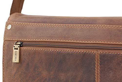 Tan Messenger Bag Leather A4 Visconti 18548 UwZ0P4nq