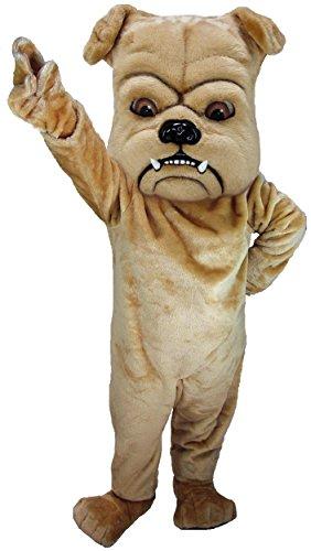 Tan Bulldog Lightweight Mascot Costume (Bulldog Mascot Costume)