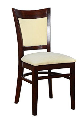Cheap Beechwood Mountain BSD-117S-MO  Solid Beech Wood Side Chairs in Medium oak for Kitchen and dining, set of 2
