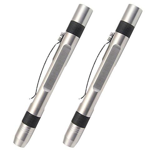 (2 Light Source UV Flashlight for Gem Identification, 2 Pack Blacklight 365nm Ultraviolet Flashlight with Gauge )
