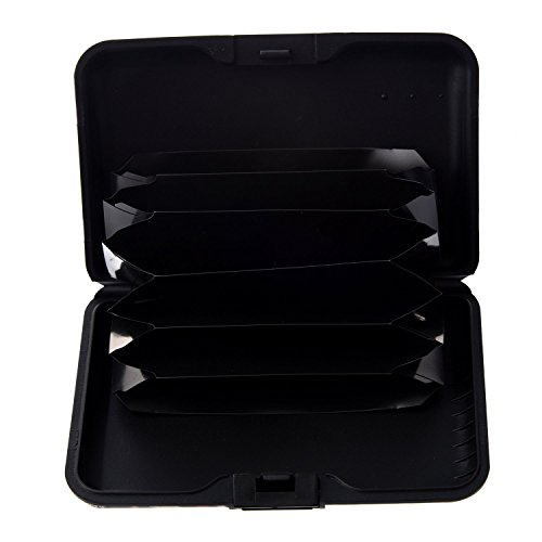 SODIAL (R) Farbe, Metall, Aluminium Identifikation-Kreditkarte-Kasten-Mappen-Geldbeutel-Taschen-Halter-Kasten - Gelbe Farbe Leopard