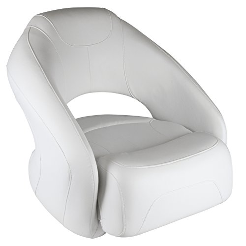 Wise 8WD1217-784 Sport Bucket Seat with Flip-Up Bolster, White