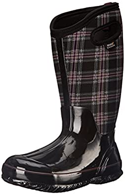 Amazon.com | Bogs Women's Classic Winter Plaid Tall Wide Calf ...