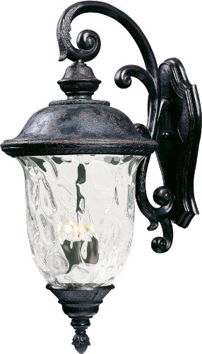Maxim 40498WGOB, Carriage House VX 3-Light Outdoor Wall Lantern, Oriental Bronze
