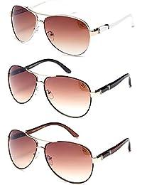 """newbee Moda–""""Eliz Aviator la moda anteojos de sol de protección UV"""