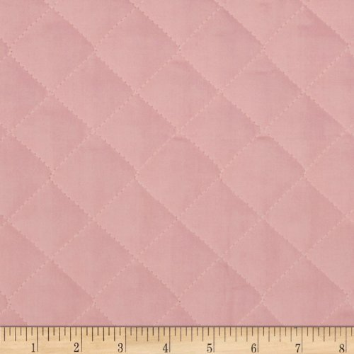 Fabri-Quilt 0269124 Double Sided Quilted Broadcloth Soft Pink Fabric by The Yard, Double Sided Pre Quilted Fabric
