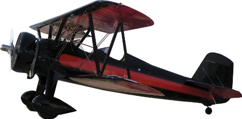 "picture of Vintage Biplane II Wall Decal Cutout 17.5""x36"""
