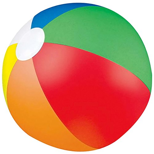 RoseSummer 1Pcs Rainbow Colored Party Pack Inflatable Beach Balls - Beach Pool Party Toy (Beach Balls Cheap)