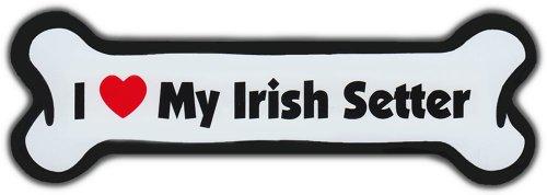 Dog Bone Magnet: I Love My Irish Setter | For Cars, Refrigerators, More