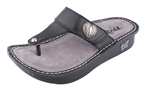 Alegria Women's Carina Wedge Sandal,Black Nappa,39 BR/9-9.5 M US by Alegria