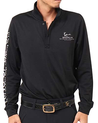 [カールカナイ ゴルフ] Karl Kani GOLF ポロシャツ 長袖 ストレッチ 裏起毛 ボタン ロング シャツ 183KG1203