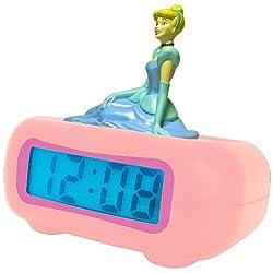 Disney Princess DC94240 LCD Alarm Clock (Pink)