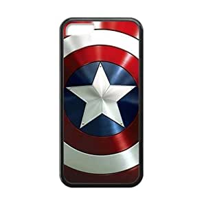 Custom Unique Design Captain America Iphone 5C Silicone Case