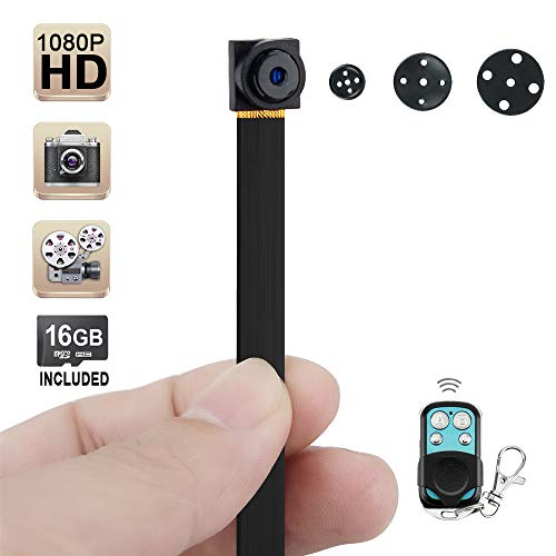 Wiseup 16GB 1920x1080P HD Hidden Camera Button Mini DV Camcorder Motion Detection Security DVR Video Recorder