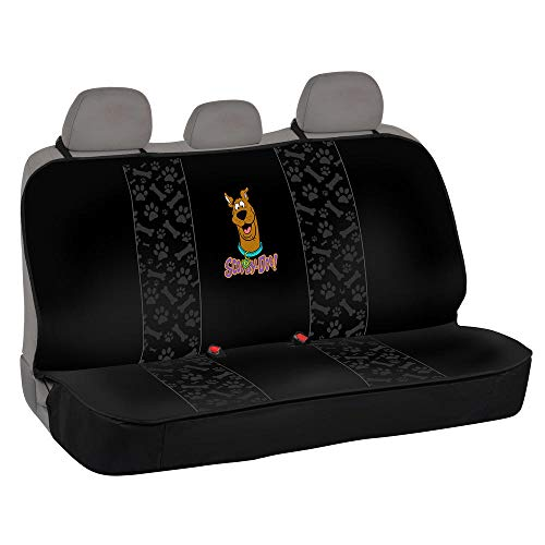 BDK SD51 Scooby-Doo Seat Cover for Car SUV & Truck-100% Waterproof Protection, Double Padded, Front Pocket (Bench)