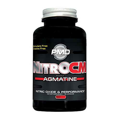 PMD Sports Nitro cm - Nitric Oxide with Agmatine Pre Workout Supplement - Muscle Growth Pre Workout with L Arginine - Endurance Boost for Hardcore Exercise, Training, and Bodybuilding - 90 Capsules (Nitric Activator Oxide)