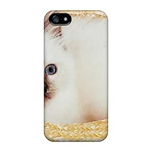Fashion XPy438SPYv Case Cover For Iphone 5/5s(a White Kitten In A Hat)