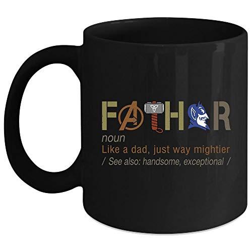 Duke Blue Devils Mug, Fathor Like A Dad Just Way Mightier Mug (Coffee Mug 15 Oz - Black)