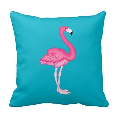 [HoldShop Pink Flamingo Throw Pillow Case Cushion Home Sofa Decorative 18 X 18 Inch] (Flamingo Throw)