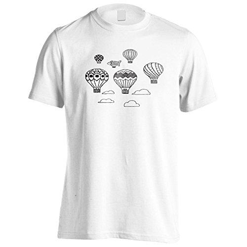 Neue Luftballon Weltkunst Herren T-Shirt m359m