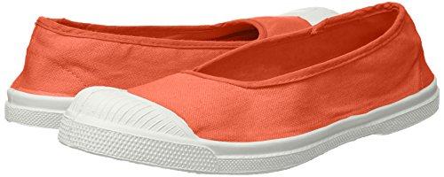 Bensimon Orange Femme Tennis Ballerine corail Baskets rCOrq1