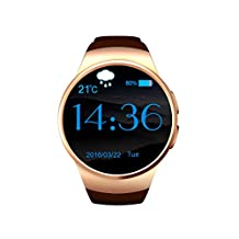 Waterproof Bluetooth Smart Watch, Wearable Smart Watch Pedometer with Camera Excerise Tracker for Children Baby Kids_ Golden