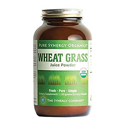 Pure Synergy USDA Organic Wheat Grass Juice Powder (5.3 oz) USA Grown, Non-GMO