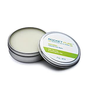 Natural Hand and Foot Balm for Athletes With Tea Tree and Lemongrass. For Dry Cracked, Damaged Heels From Running, Hiking. Moisturize Dry, Chapped Hands From Climbing, Lifting and Other Sports.