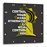 3dRose Amar Singha Art - Quotation - An Inspiring Quotation For The Meditation - 13x13 Wall Clock (dpp_289492_2)