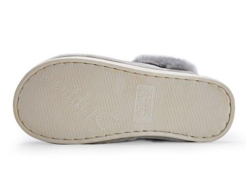 House Winter Slippers light Woollen Bedroom Warm Shoes Slip Short Lining Indoor Grey Men Anti Women Plush 1 UMmaid 6tBwEt